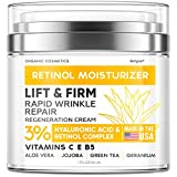 Anti-Wrinkle Cream for Face - Neck Firming Cream for Double Chin and Lifting - Day and Night Cream Anti-Aging Face Moisturizer for Women - Made in USA - Retinol Cream for Face with Hyaluronic Acid