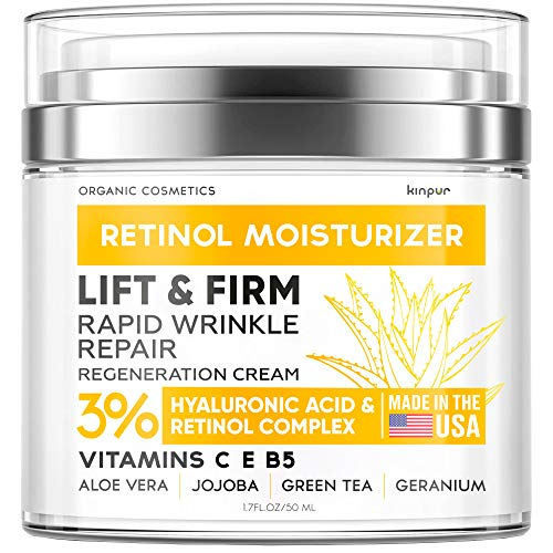 51OBmvm6RbL - Anti-Wrinkle Cream for Face - Neck Firming Cream for Double Chin and Lifting - Day and Night Cream Anti-Aging Face Moisturizer for Women - Made in USA - Retinol Cream for Face with Hyaluronic Acid