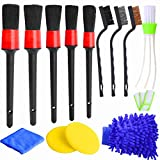 Hicdaw 13Pcs Detailing Brush Set Car Detailing Kit for Auto Detailing Cleaning Car