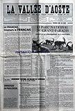 VALLEE D'AOSTE (LA) [No 1263] du 01/02/1985 - LE FRANCAIS TOUJOURS LE FRANCAIS PAR LP...