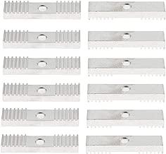 12Pcs GT2 Timing Belt Gear Clamp Mount Block Fixing Clip Plate for 3D Printer Accessories, Aluminum Alloy