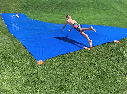 Buy Sea Cow Giant Waterslide 50 x 12 with Easy Peel-N-Stik Fasteners (Blue)