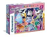 Clementoni-Clementoni-26434-Floor Bella e La Bestia-40 Puzzle Suelo 60 Piezas Vampirina, Multicolor (26434.6)
