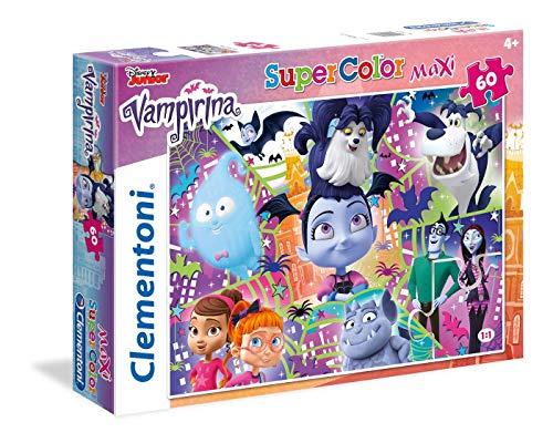 26434 Floor Bella e La Bestia 40 Puzzle Suelo 60 Piezas Vampirina, Multicolor (26434.6)