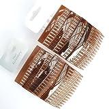 8x concha selecciones de efecto 7cm pelo peines/lateral peines de pelo/agarre