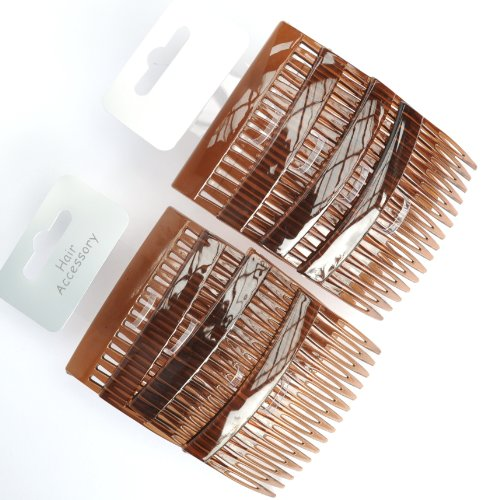 8 X Effet Écaille de tortue 7 cm Cheveux Peignes/côté Peignes Cheveux/prise en main