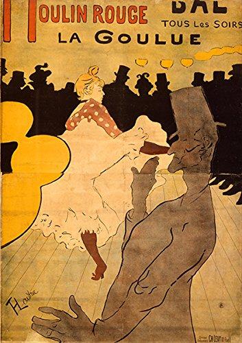 Spiffing Prints Henri de Toulouse Lautrec–Moulin Rouge-la Goulue Vintage Fine Art Print, Papel Brillante/Papel, Up to 594mm by 841mm or 23.4