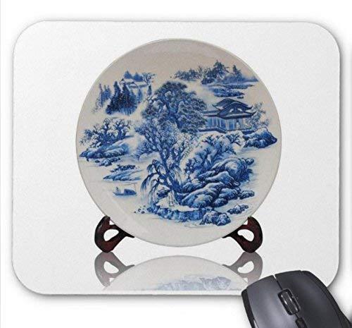Maus matte st jingdezhen keramik glasur pulver emaille vase mit blauen und weißen porzellan dekorative blumenteller haushaltsdekoration bastelmuster mousepad