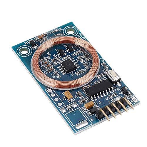 YJDSZD Componentes electrónicos Decodificador de Tarjetas de identificación Módulo Lector RFID 125KHz TK4100 Placa de Salida UART Compatible con Control de Acceso Modificación de Bricolaje