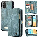 Zttopo iPhone 11 Wallet Case, 2 in 1 Leather Zipper Detachable...