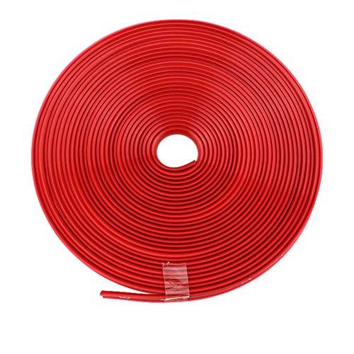 ihreesy Universal Felgenschutz,8m 26ft Länge Felgen Schutzring Gummi Felgenstyling Felgenband Selbstklebende Felgenrandaufkleber Felgenrand Protector Radring Reifen Styling Zubehör,Rot