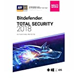 Bitdefender Total Security 2018 | 5 Devices, 1 Year New in Retail Box