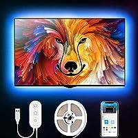 Govee 2m LED-remsa, LED-TV-bakgrundsbelysning, lämplig för 40-60 tums TV och PC, appkontroll, RGB, USB-drift