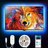 Govee 2m LED Strip, LED TV Hintergrundbeleuchtung, geeignet für 40-60 Zoll Fernseher und PC, App-Steuerung, RGB, USB-Betrieb