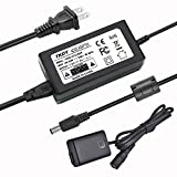 TKDY AC-PW20 Power Supply NP-FW50 DC Coupler Dummy Battery AC Adapter Kit, Suit for Sony Alpha A6000 A6100 A6500 A6400 A6300 A7 A7II A7RII A7SII A7S A55 A5100 RX10II RX10III RX10IV Cameras.