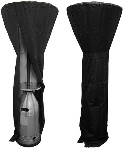GreenRibbon Housse pour Parasol Chauffant Exterieur Φ 91/48 x 236 cm 210D Polyester imperméable Noir