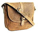 J. Wilson London - Diseñador 100% auténtico genuino verdadero apenado Vintage Hunter cuero hecho a mano unisex hombro Messenger Maletín bolsa