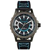 Bruno Banani uomo orologio da polso meros braccialetto di cuoio nero orologio al quarzo con quadrante nero orologio Trend ubr30021