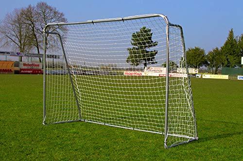 POWERSHOT Porta da Calcio in Acciaio 2,15m x 1,50m Ideale per i Bambini in Giardino - Muro di tiro Opzionale! (Senza Muro di tiro)