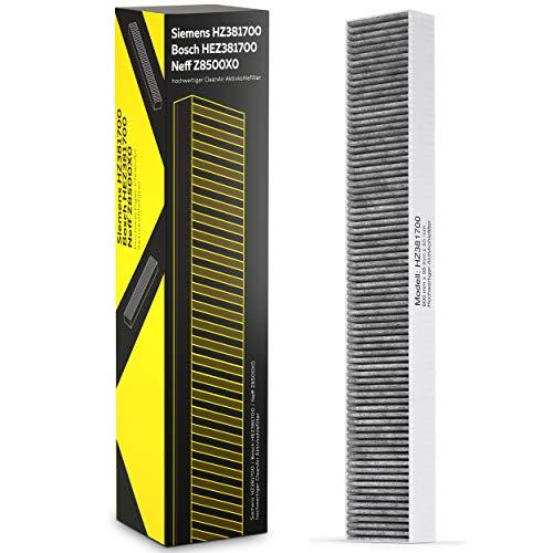Siemens HZ381700 / Bosch HEZ381700 / Neff Z8500X0 hochwertiger CleanAir Aktivkohlefilter mit Teilenummer 17000822 Ersatzfilter für Umluftmodul