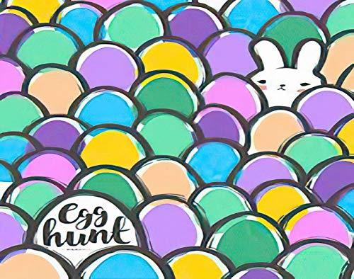 Y·JIANG Pintura de Pascua por números, lindo conejo y huevos ingenuos japoneses kawaii DIY lienzo acrílico pintura al óleo por números para adultos niños decoración de pared del hogar, 40,6 x 50,8 cm