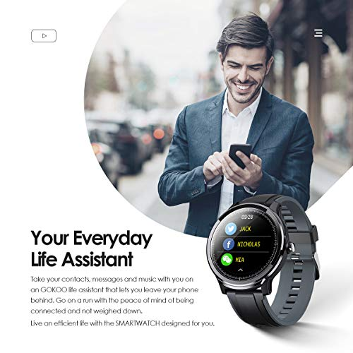 GOKOO-Smart-Watch-Sport-Activity-Tracker-Waterproof-Smartwatch-for-Men-with-Blood-Pressure-Heart-Rate-Sleep-Monitor-Breathing-Train-Step-Distance-Calorie-Full-Touch-Camera-Music-Control