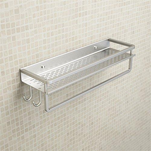 Espace aluminium salle de bains étagère salle de bains étagère porte-serviettes mur suspendu lavabo/salle de bains (forme : B, taille : L 40CM)
