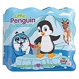 Livre en EVA Lavable Jouet de Bain pour Bébé Livre D'éveil Enfant Apprentissage Livre de Découvertes Cadeaux pour Naissance Garçon Fille(penguin)