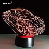 Sports motorisés Cool Car Forme automobile 3D Déco Lumière USB Charge Interrupteur Tactile Lampe Coloré...