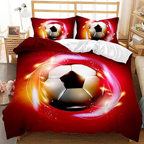 Bedclothes-Blanket Juego de sabanas Cama 150,Dibujo Digital 3D Bosquejo de 3 Piezas Ropa de Cama de 3 Piezas Fútbol-4_200 * 200 cm