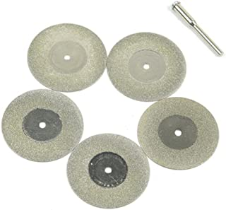 UKCOCO 5 piezas 40 mm Mini disco de corte de diamante hoja de sierra de diamante de diamante molienda rueda herramienta rotativa