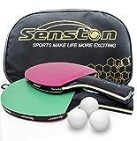 Senston Professional Ping Pong Paddles Set - 2 Table Tennis Paddles and 3 Ping Pong Balls -Table Tennis Racket...