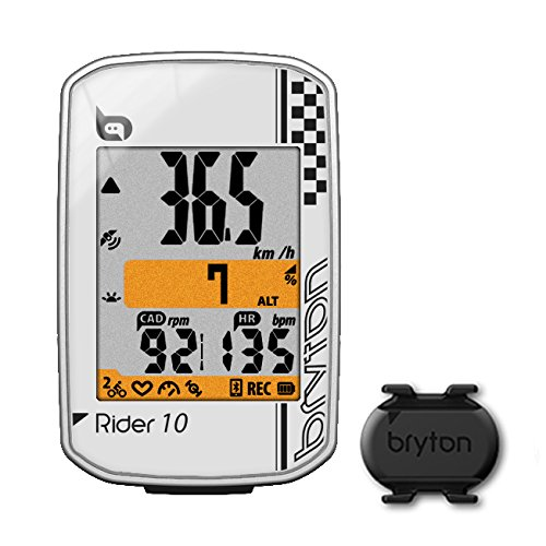 Bryton Rider 10 GPS Cycling Computer (2.0', Rider 10C (White) - with Cadence ANT+/BLE)