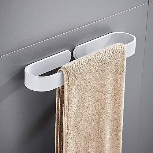 GAOTIAN Toallero unipolar accesorios de baño toallero toallero libre toallero anillo toallero blanco/curvado toallero ancho 40 CM (golpe libre)