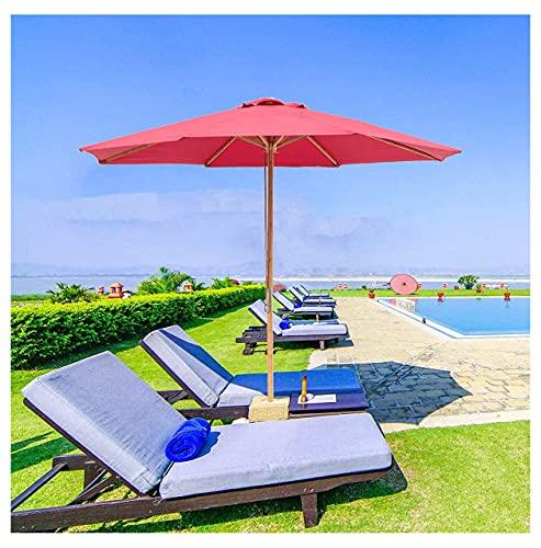 WUKALA Sombrillas para Terrazas de 9ft,Sombrillas para Jardin con 8 Varillas de Sombrilla Resistentes,Parasol Balcon UV50 + Y Resistente Al Viento,para Playa Piscina Trasero Exterior