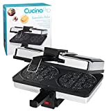 Best Pizzelle Makers - Krumkake Baker By Cucina Pro - 100% Non Review