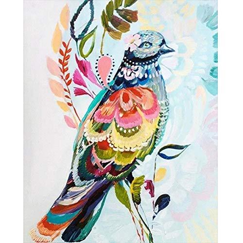 Diamond Painting strass kristal vogel kleur kruissteek kunst knutselen voor sets woonkamer slaapkamer decoratie (40x50cm)