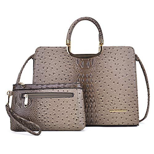 Obi Maniglie Porte Interne.Dasein Women S Purses And Handbags Shoulder Bags Ladies Tote Bags Ostrich Satchels For Women With Wallet 5 Ostrich Khaki Wallet Set