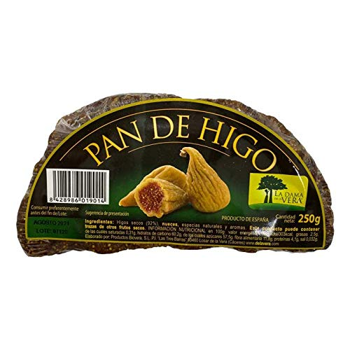 Pan de Higo Artesano con nueces La Dama de la Vera 250 Gramos