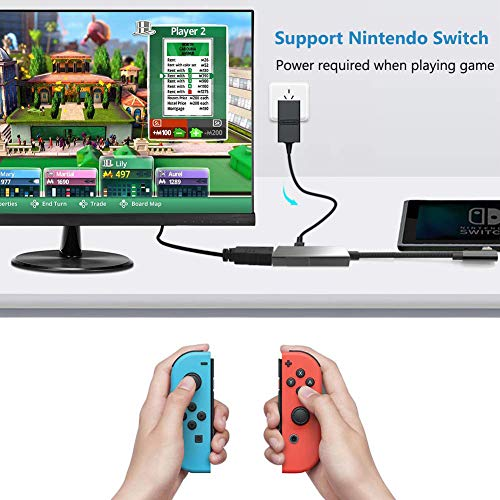 USB C HDMI Charging Adapter Compatible with Nintendo Switch, HDMI Dock for Samsung Dex S10/S9/S8 Plus,Note 10/9/8, Type-C to HDMI 4K 60Hz Power PD Converter