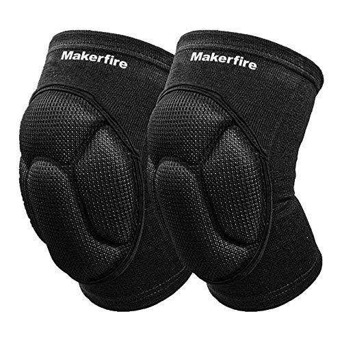 Makerfire Protective Knee Pads Knee Protector Thick Sponge Anti-Slip Collision Avoidance Knee Sleeve-1 Pair