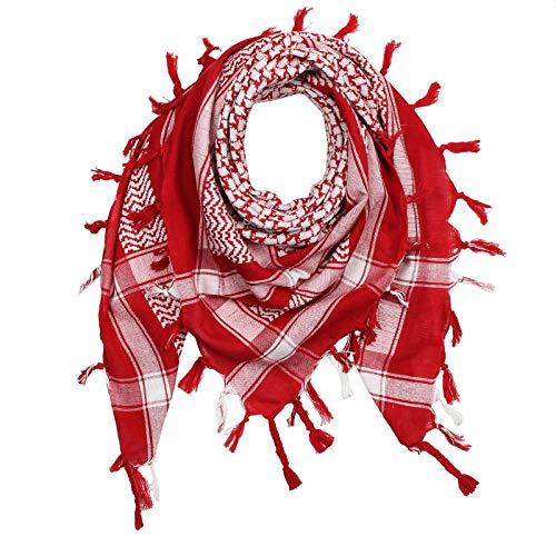 Superfreak Palituch - rot - weiß - 100x100 cm - Pali Palästinenser Arafat Tuch - 100% Baumwolle