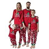 Familien Pyjama Schlafanzug Weihnachten Eltern-Kind Familie Set Mama Dad Christmas Outfit Baby Kid Weihnachtsoutfit Nachtwäsche Kinder Alphabet Weihnachtsbaum Print Top Print Hosen Home...