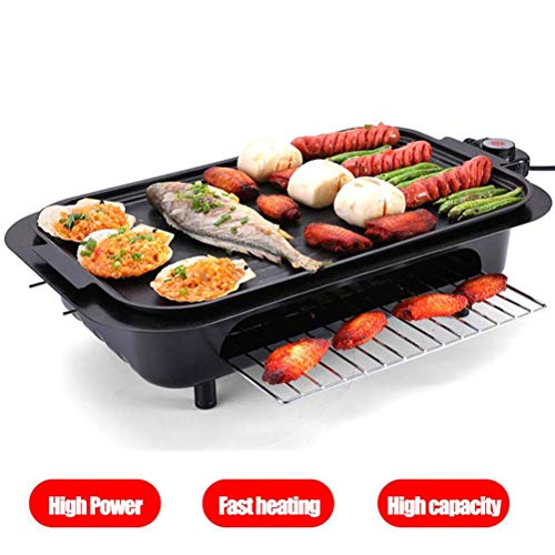 Buy Discount Portable Griddle Electric Nonstick Electric Grill Smokeless, 5 Level Temperature Control, 2 Layer Cooking Zones with 3 Non-Stick Interchanable Griddle Plate, All Removable Washable, 2200W