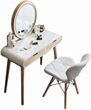 Dressing Table Set, Household Furniture with Adjustable Brightness Mirror, Storage Drawer, Bedroom Dressing Table, Makeup ...