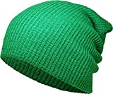 KBETHOS Comfortable Soft Slouchy Beanie Collection Winter Ski Baggy Hat Unisex Various Styles (Kelly Green Solid Slouchy)