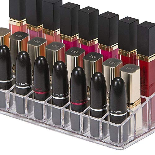 Xiton 24 Espaces Support De Rouge à LèVres Clair PréSentoir Acrylique Rouge à LèVres Brillant à LèVres Porte-Accessoires Pour Maquillage Pour Les Femmes Et Les Filles