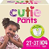 Cutie Girls 2T/3T Refastenable Potty Training Pants, Hypoallergenic with Skin Smart, 104 Count