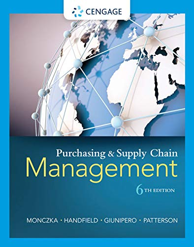 Compare Textbook Prices for Purchasing and Supply Chain Management 6 Edition ISBN 8601422011319 by Monczka, Robert M.,Handfield, Robert B.,Giunipero, Larry C.,Patterson, James L.