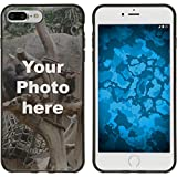 PhoneNatic Hülle kompatibel mit iPhone 7 Plus / 8 Plus Personalisierte Handyhülle schwarz zum selbst gestalten mit eigenem Foto